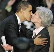 sebilius kissing obama