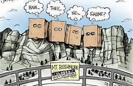 government shutdown rushmore cartoon