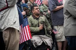 veterans march