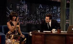 Jimmy Fallon and Michelle Obama