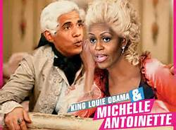 Obama (King Louis) and Michelle (Marie)