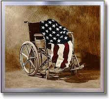 veteranflagand wheelchair