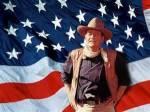 John Wayne with Flag