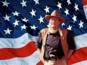 John Wayne with Flag