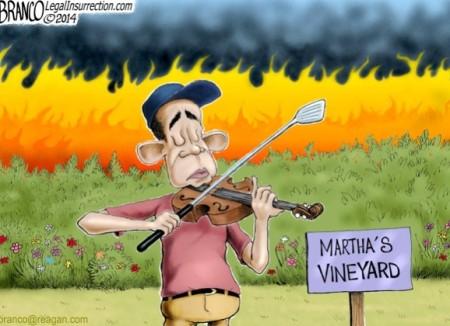 ObamaFiddling8142014