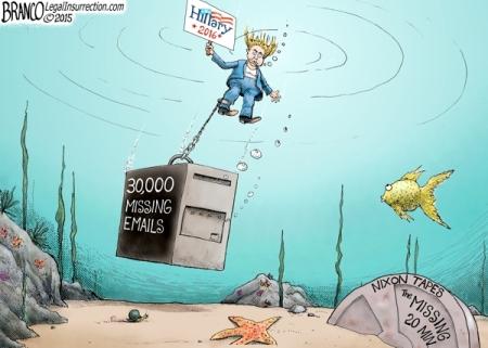 Hillary underwater