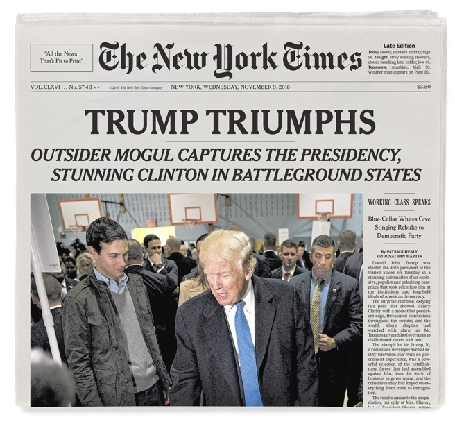 Donald Trump Elected New York Times Newspaper pertaining to Nytimes Com Today's Paper
