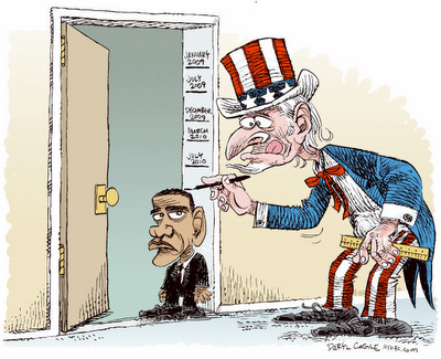 Cartoon - Obama Shrinking