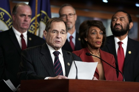 House Democrats Hold News Conference Expressing Support Of Special Counsel Robert Mueller
