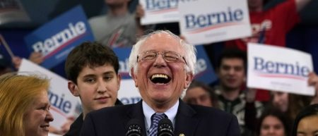TOPSHOT-US-POLITICS-VOTE-DEMOCRATS-NEW-HAMPSHIRE-PRIMARY-SANDERS