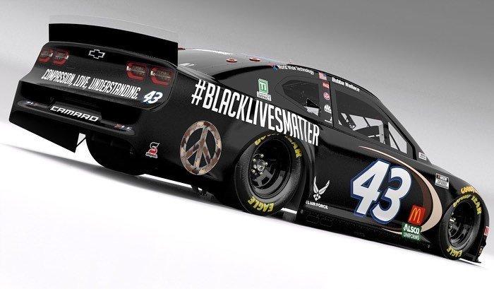 Richard-Petty-Motorsports-Black-Lives-Matter-car