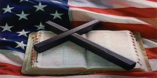 flag cross and bible 91121